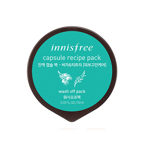 Innisfree Máscara cápsula Bija & Tea Tree 10 ml